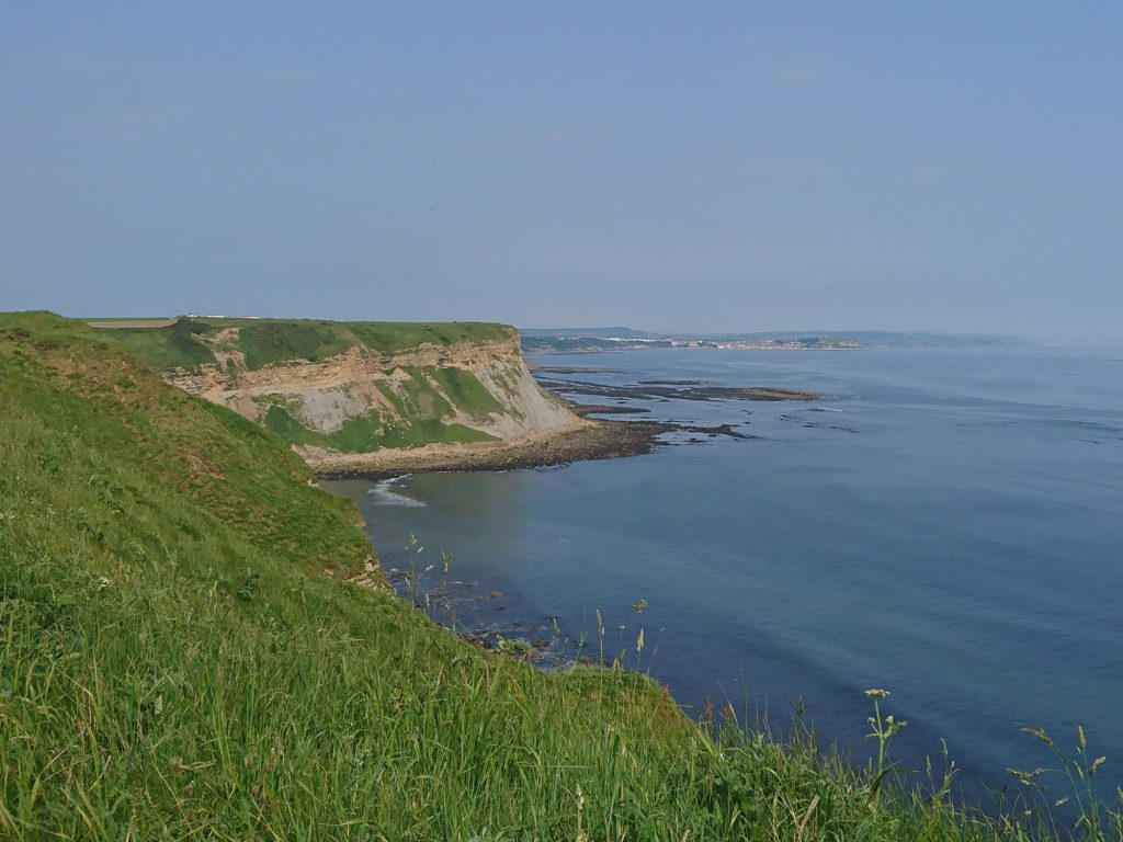 View from cliff top between Filey and Blue Dolphin camp.