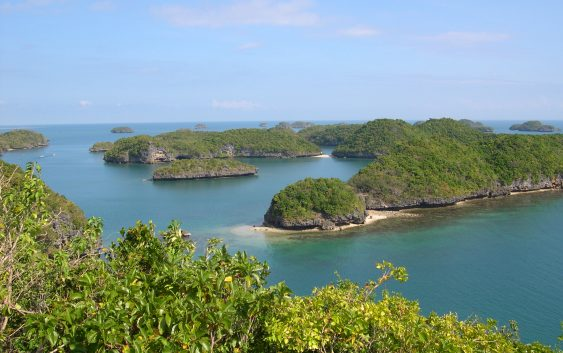 View from Govenors Island, Hundred Islands