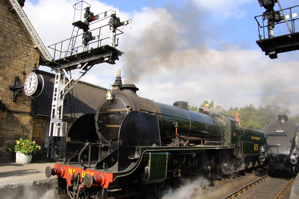 Steam Trains at Grosmont on the North Yorkshire Moors Railway