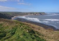 Walk from Sandsend to Runswick Bay along the Cleveland Way.