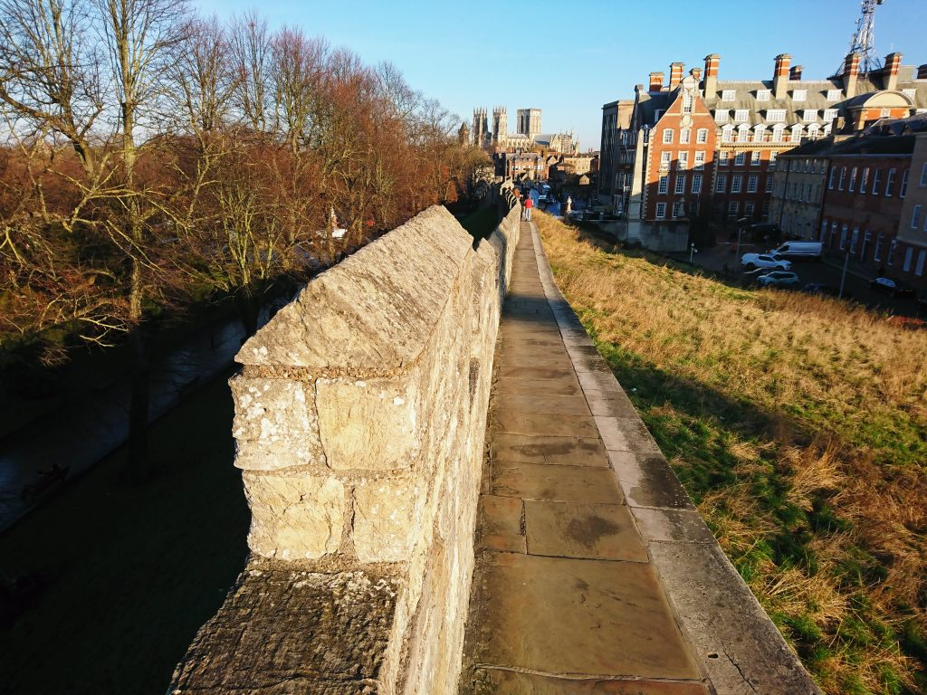 York City Walls leading to Barker Tower