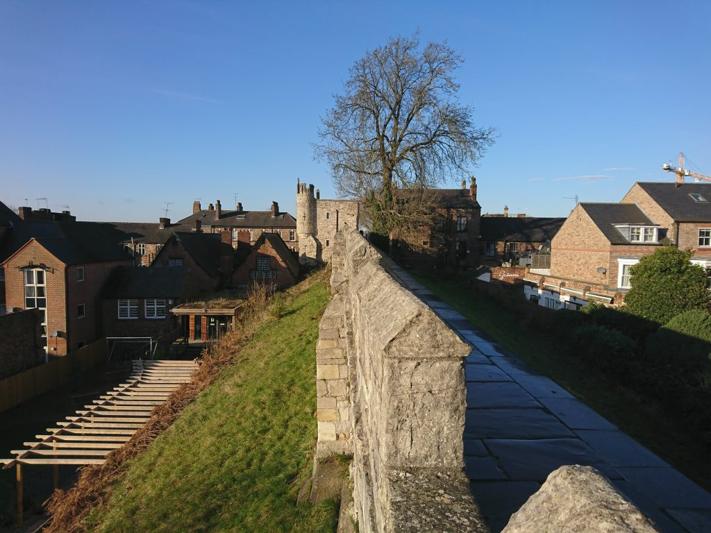 York City Walls - leading to Micklegate Bar.