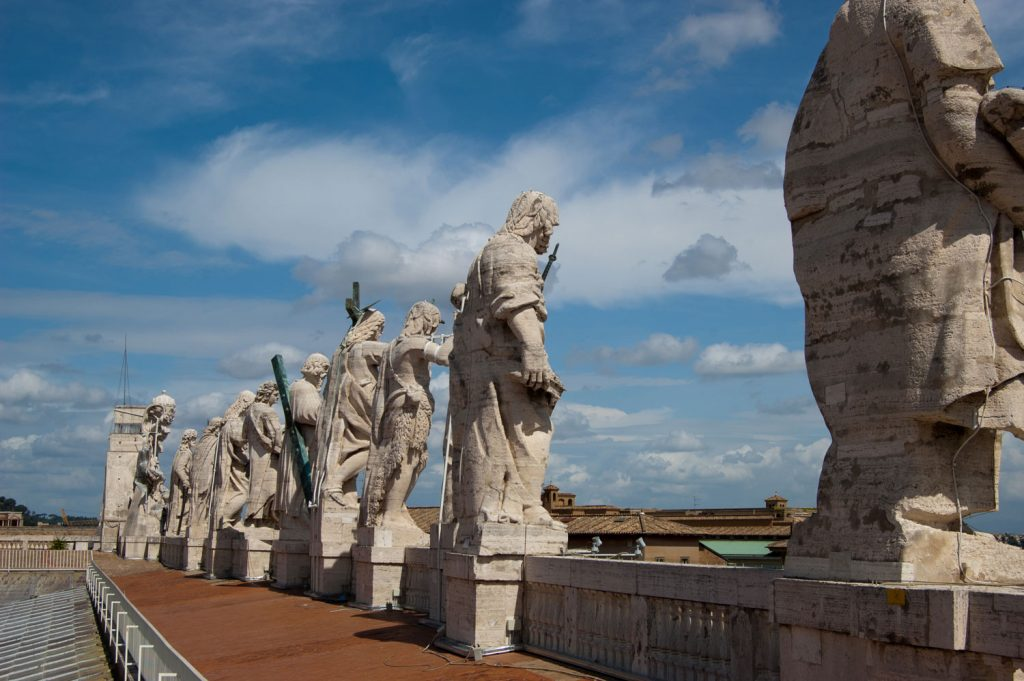 Statues on Roof of St Peters