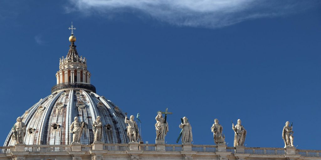 Statues on Roof of St Peters, Rome
