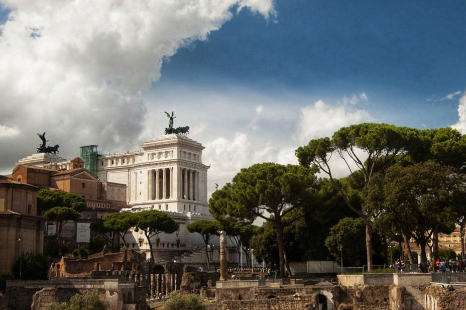 Victor Emmanuel II Monument from Forum