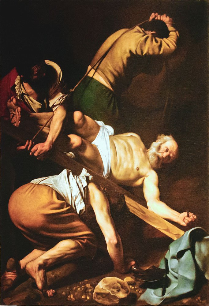 Caravaggio, the Crucifixion of St Peter