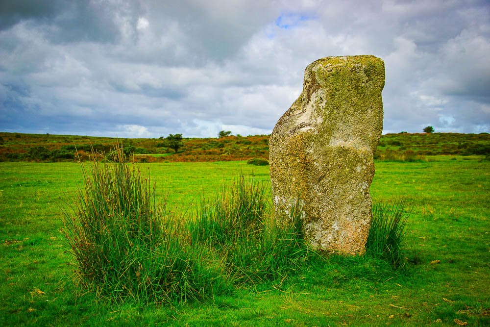 Standing Stone, The Hurlers, Bodmin Moor Cornwall