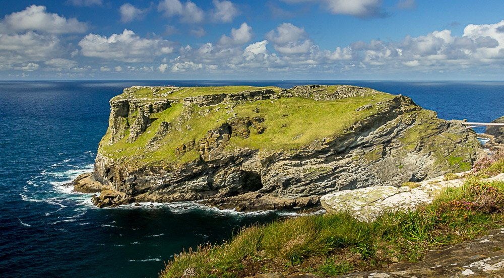 Tintagel Headland from nearby clifftop