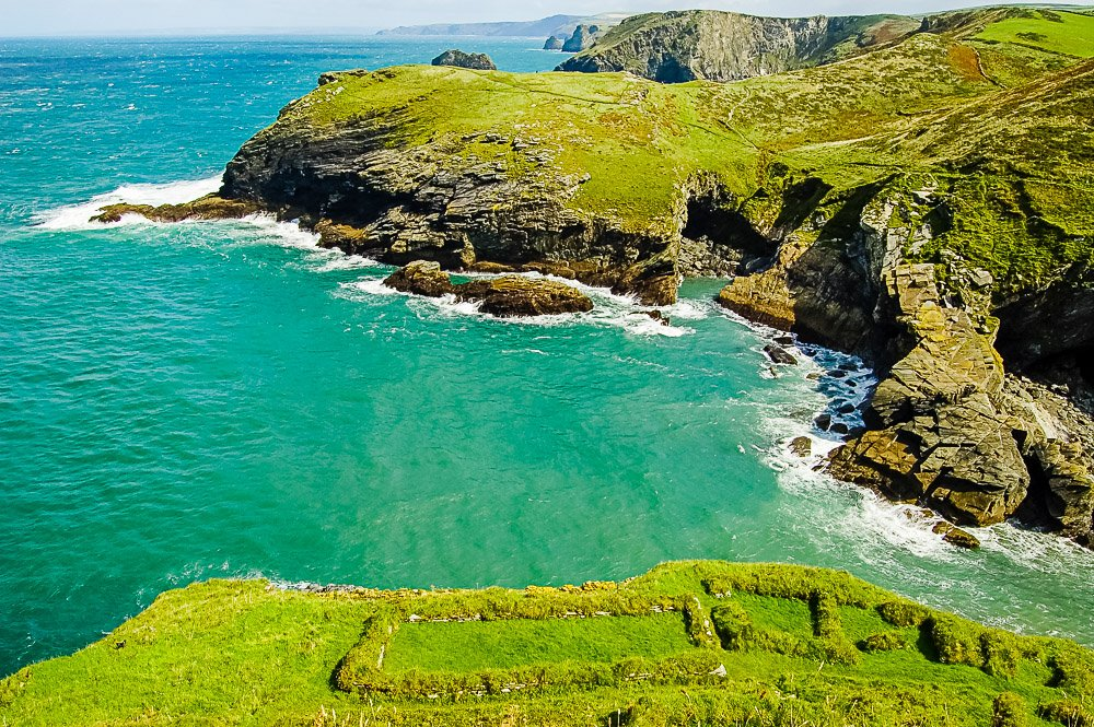 Tintagel - ruins and nearby cliffs