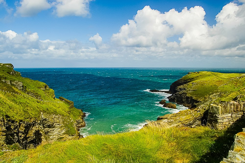 View out to sea from Tintagel Castle