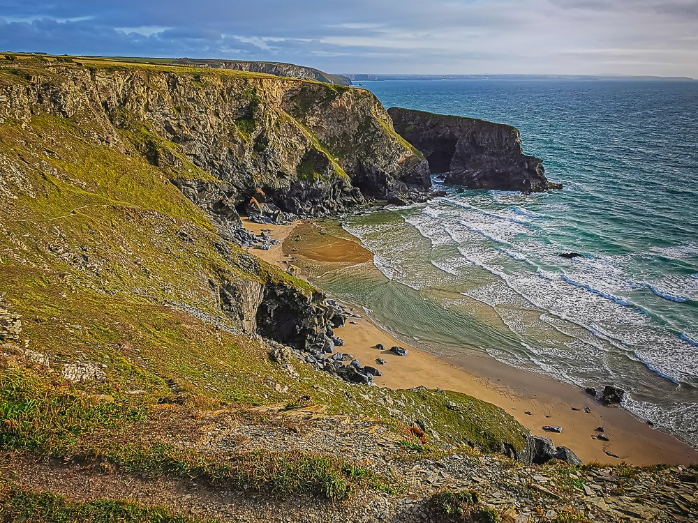 Pentire Steps Beach and Diggory Island