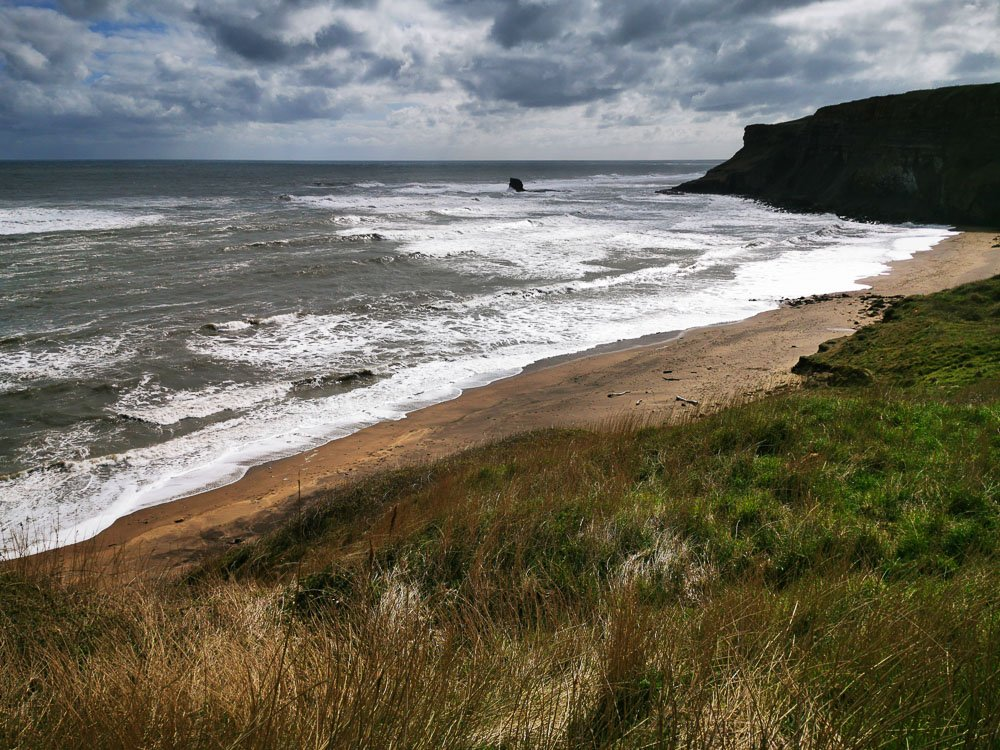 Saltwick Bay from clifftop