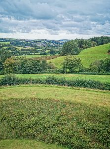 View from Restormel Castle, Cornwall