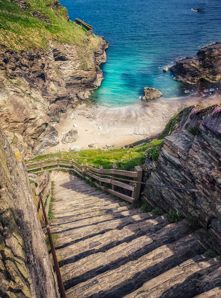 Steps down to Tintagel Haven