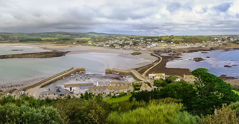 View of Marazion from St Michael's Mount