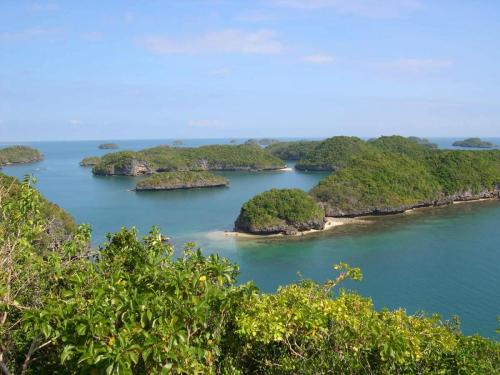 View from the top of Governor's Island, Hundred Islands, Pangasinan, Philippines.
