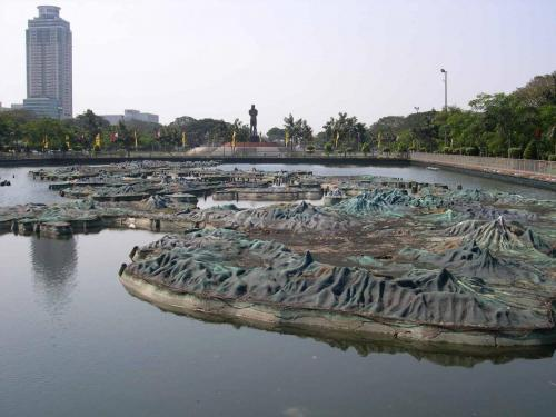 Relief map of the Philippines in Lunetta Park, Manila, Philippines.