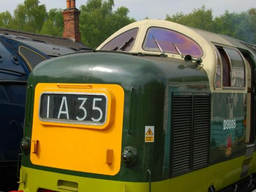 Deltic at Grosmont Station.