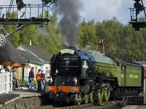 Tornado at Grosmont Station.