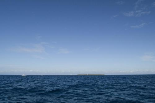 Balicasag Island on the horizon.