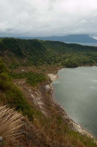 View from the crater rim.