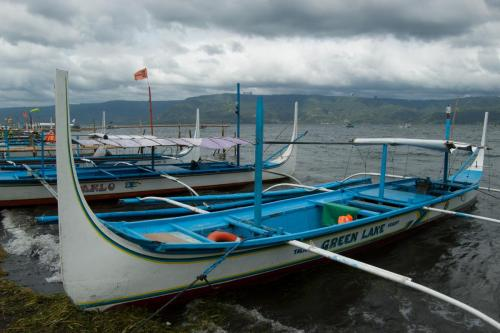 Outrigger boat.