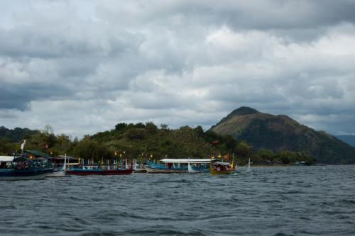 Arriving at Volcano Island.