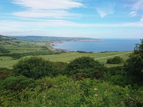 View from Ravenscar of Robin Hood's Bay.