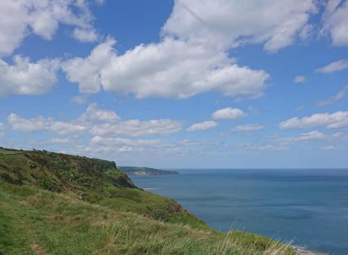 Nearing Ravenscar, the first sight of Robin Hood's Bay