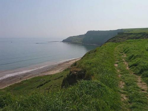Cleveland Way looking down at Cayton Bay