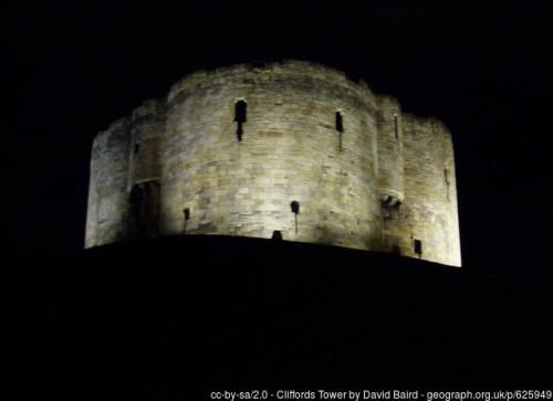 Clifford's Tower, Nighttime