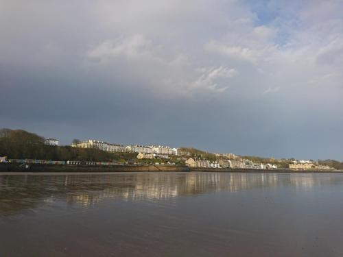 Filey Town viewed from the beach.