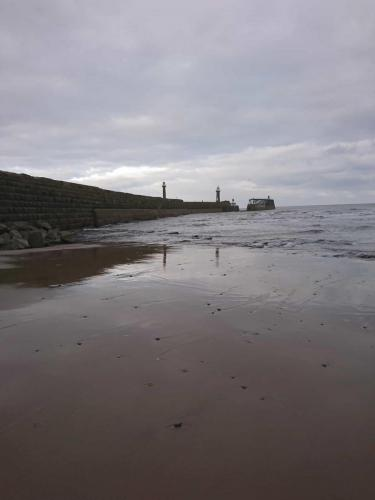 East Pier from East Cliff Beach.