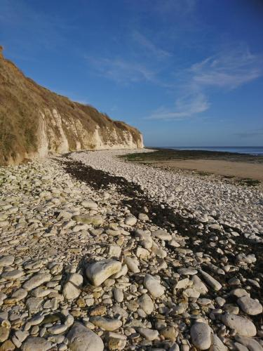 Danes Dyke Beach. Flamborough Head.