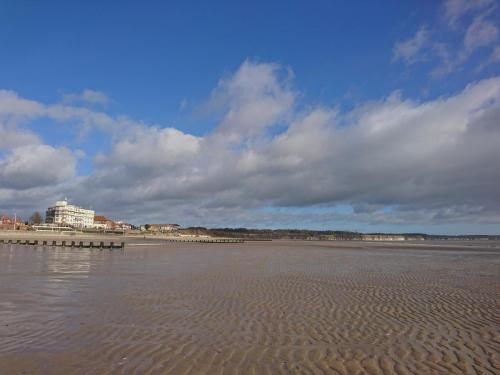 Bridlington North Sands, looking towards Flamborough Cliffs.