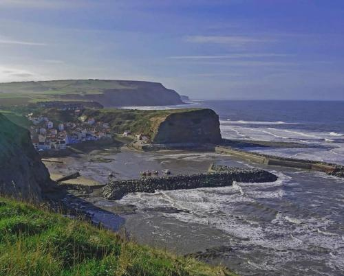 Clifftop view of Staithes