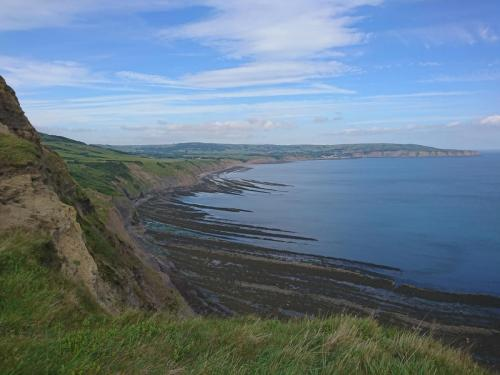 Views from Ravenscar cliff footpath.