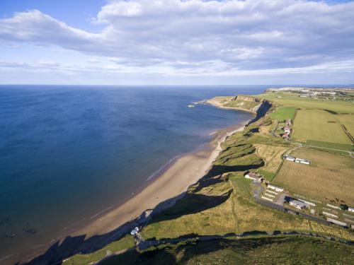 Arial view of Cayton Bay.