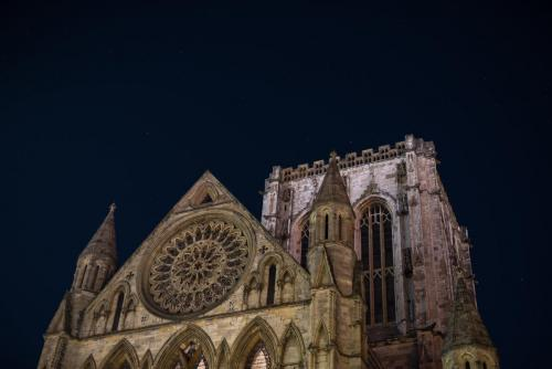 York Minster - Rose Window and Central Tower
