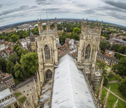 York Minster - View from Tower looking west