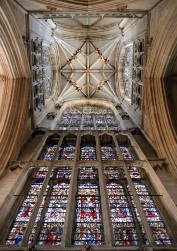 York Minster - looking up at the Tower Ceiling