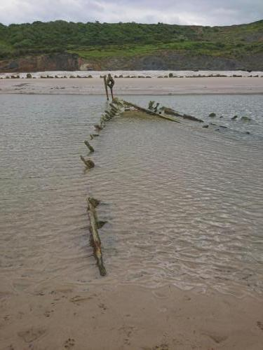 The wreck of the Laura, Speeton Beach